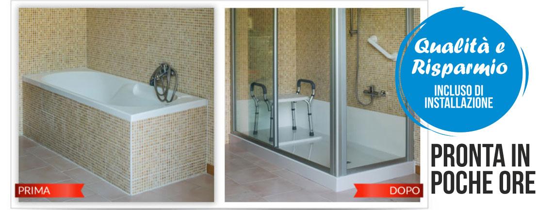Trasformazione vasca in doccia - MS Spagnesi